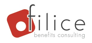 "An image of the Filice logo, featuring the tagline: ""benefits consulting."""
