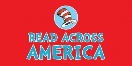 "A graphic featuring the text ""Read Across America"" underneath an image of the hat from Dr. Seuss's ""The Cat in the Hat."""