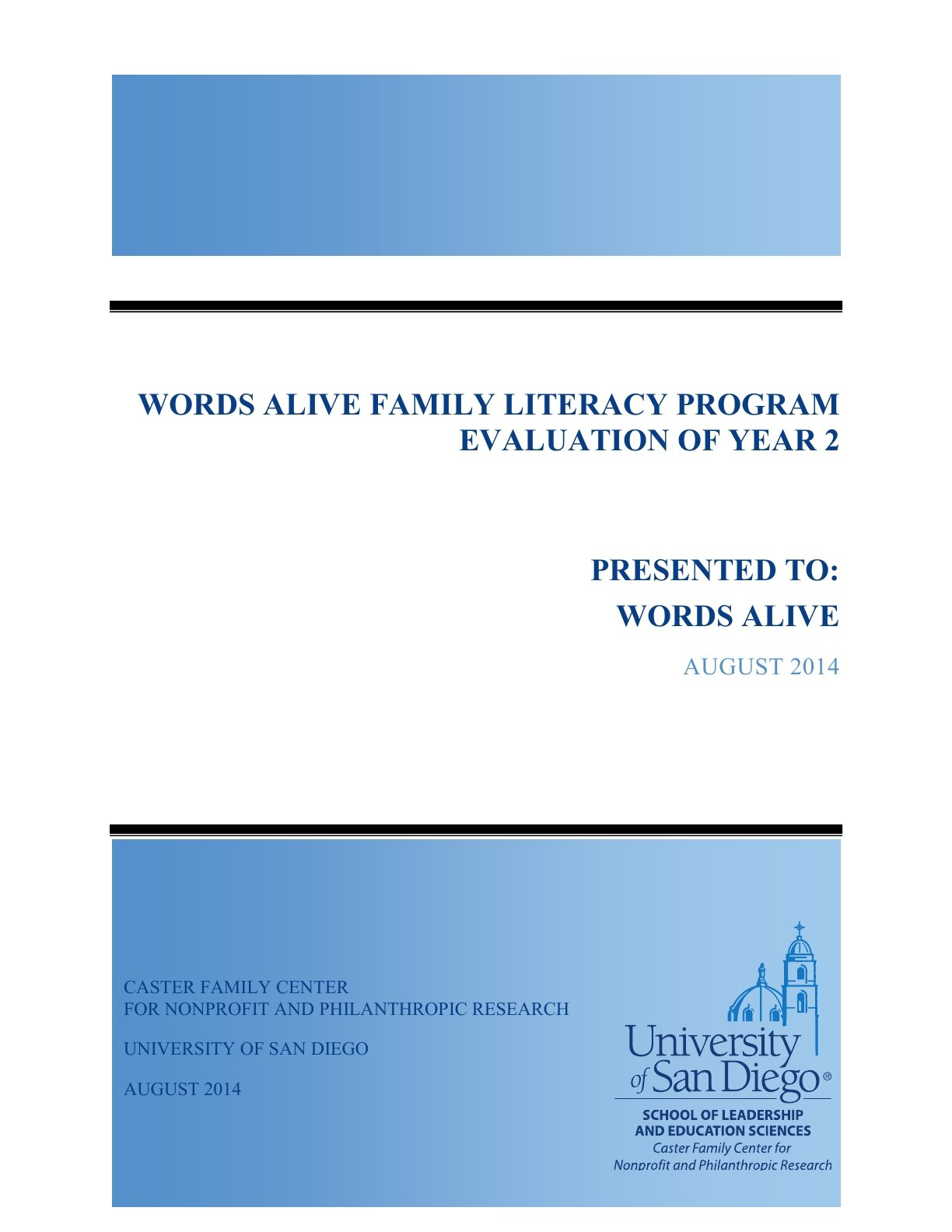 Family Literacy Program Pilot Report 2014
