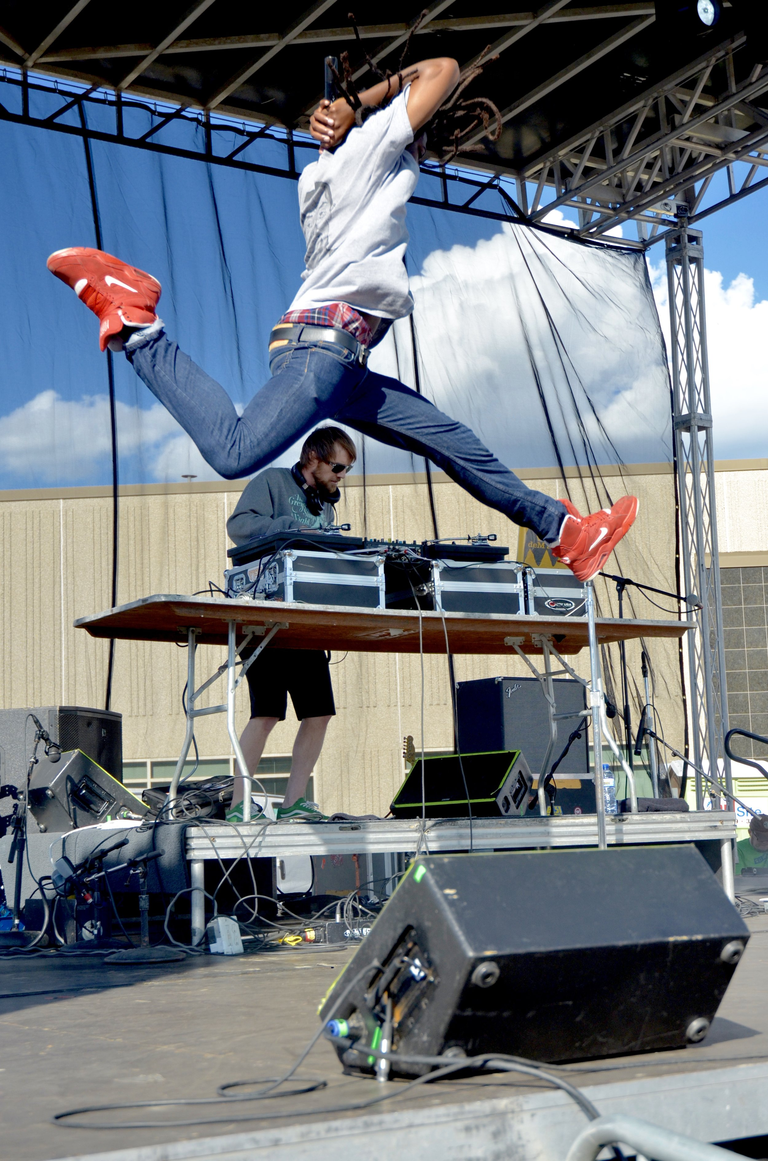 Rapper Dem Atlas defies gravity on stage at the annual Summit Brewing Company Backyard Beer Bash. Find the rest of the photos and story on the  City Pages website here .