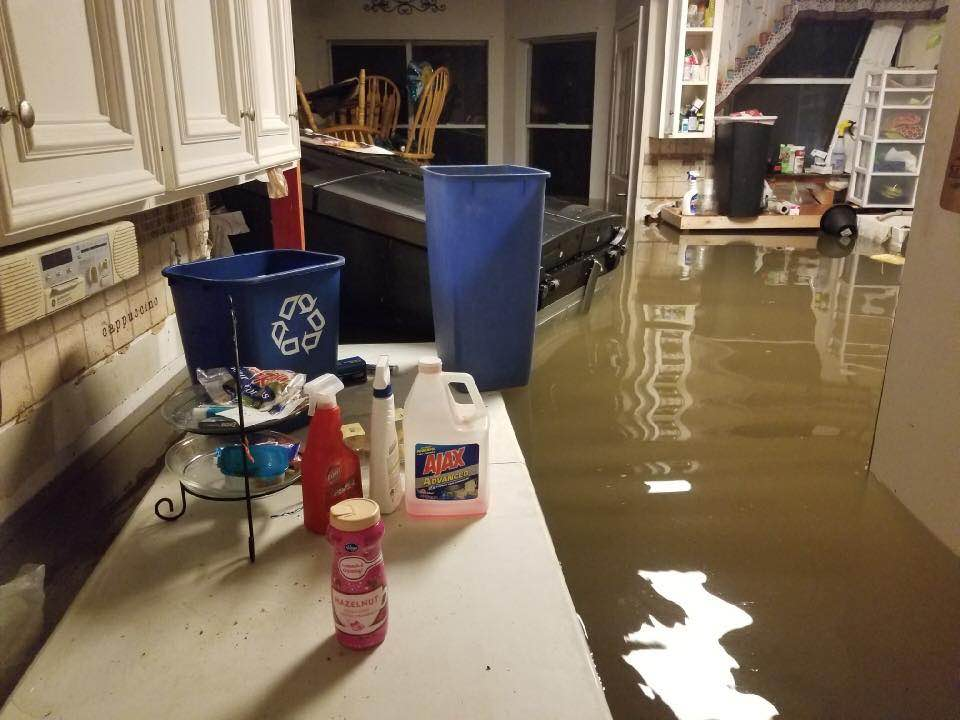 Photos of the home of the Millers, some family friends (the water continued to rise to the second story)
