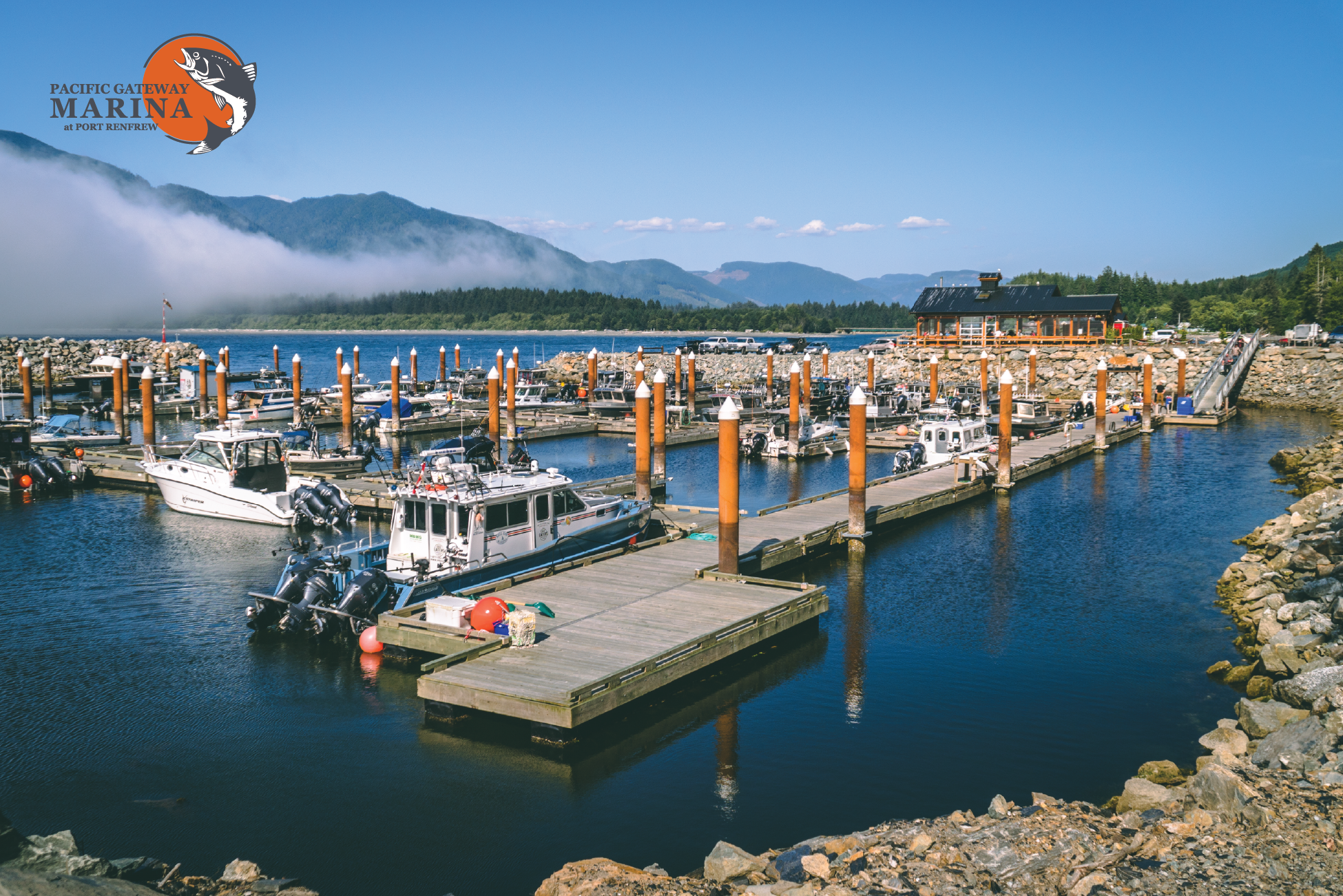 Pacific Gateway Marina   ,  Port Renfrew BC. There's a reason so many fisherman choose to call Pacific Gateway their home. It is the gateway to arguably the best salmon fishing in the world. Stop by to see for yourself and while you're there be sure to enjoy a unique ocean front dining experience at  Bridgemans West Coast Eatery .