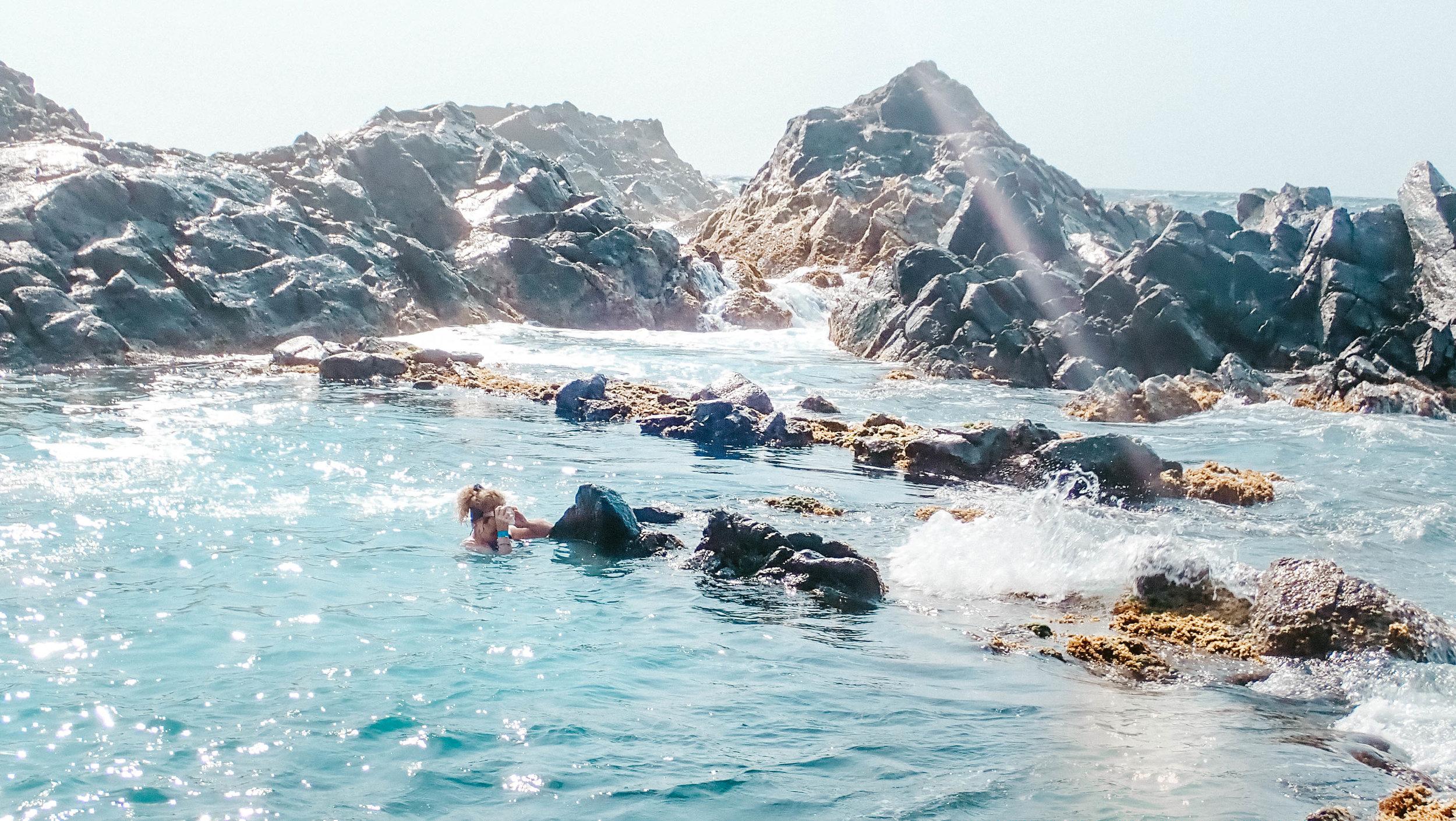 getting to the natural pool aruba.jpg