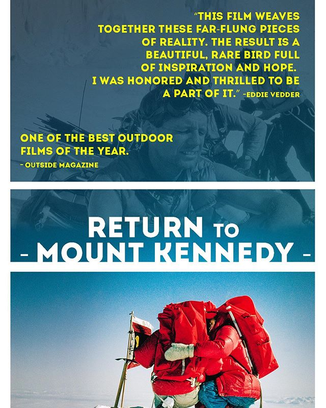 ❤️🚨❤️ New @mtkennedyfilm screenings announced! Link in profile☝️ #everytrailconnects #bobbykennedy #MtKennedy #rfkhumanrights #grunge #mudhoney #eddievedder #seattlestyle #wildernessculture #vibram #ventile #rainierbeer #vuarnet #subpop @tacoma_mountaineers @subpop @rainier_beer @outdoorresearch @timex @rcowashington @washingtontrails #mypnw #everest #rei1440project #rei @rei #jimwhittaker @friendsoftahoma