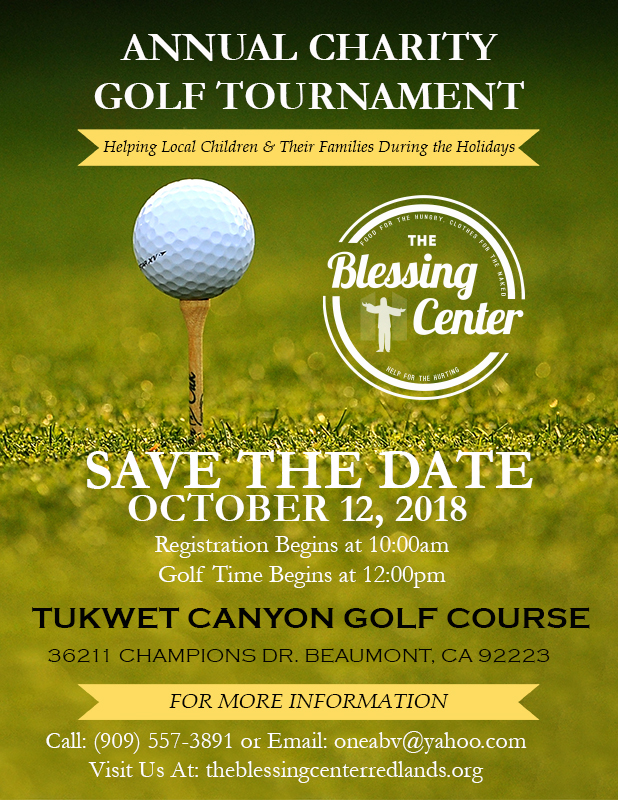 Join us for our Annual Charity Golf Tournament October 12, 2018.