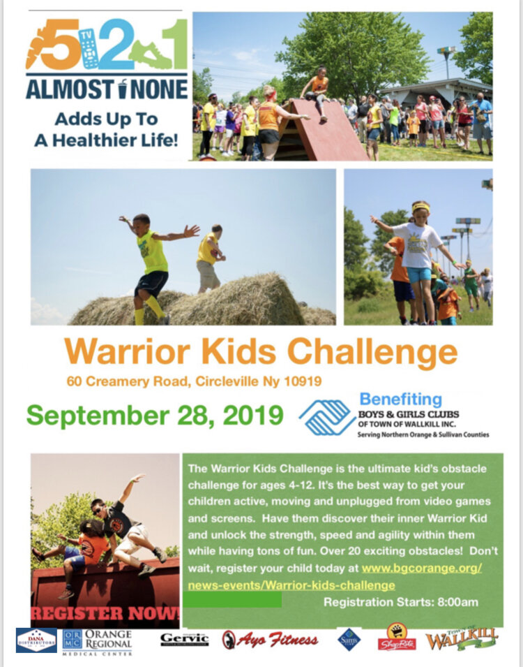 Get more information at the  Boys & Girls Warrior Kids Challenge  page.