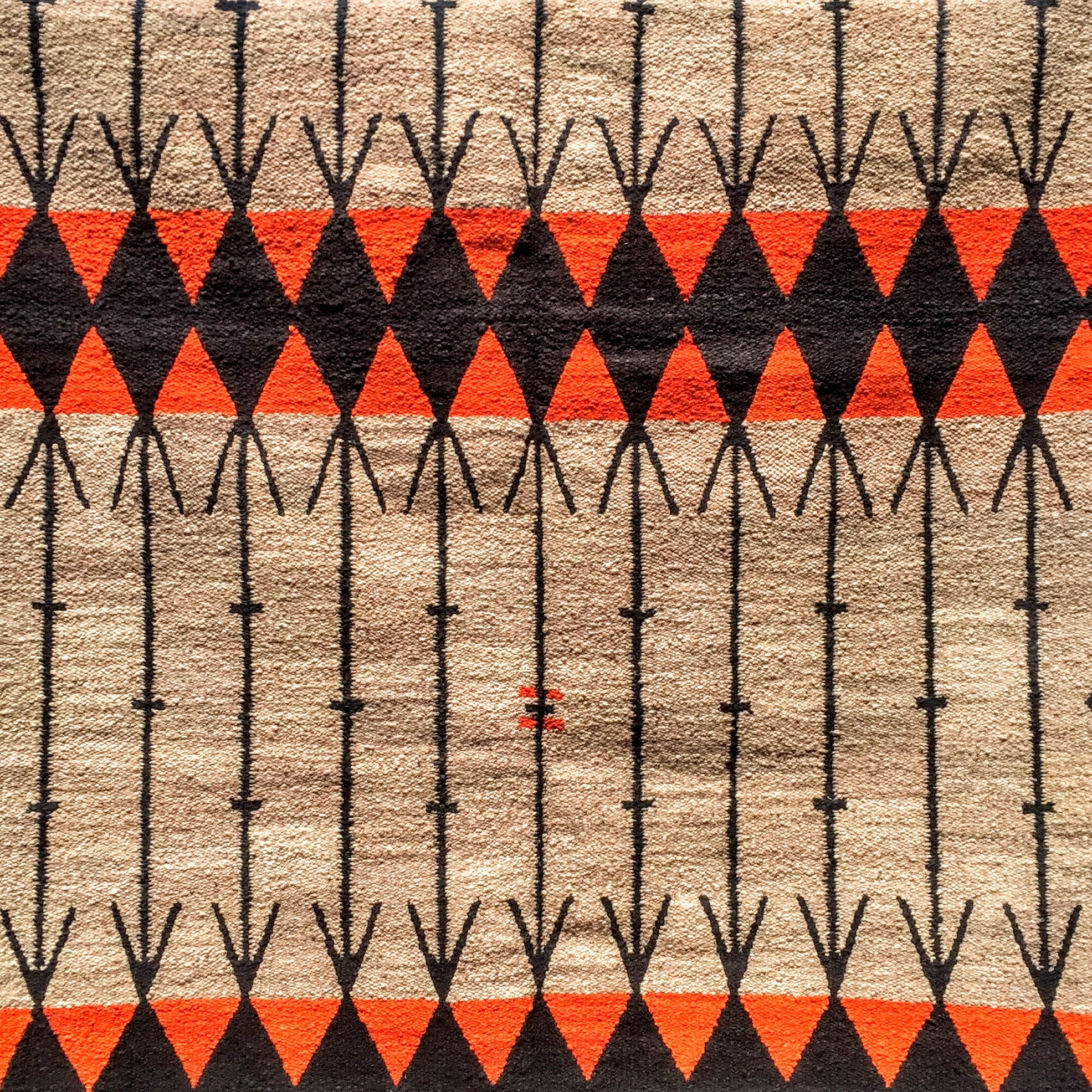 hand spun wool rug