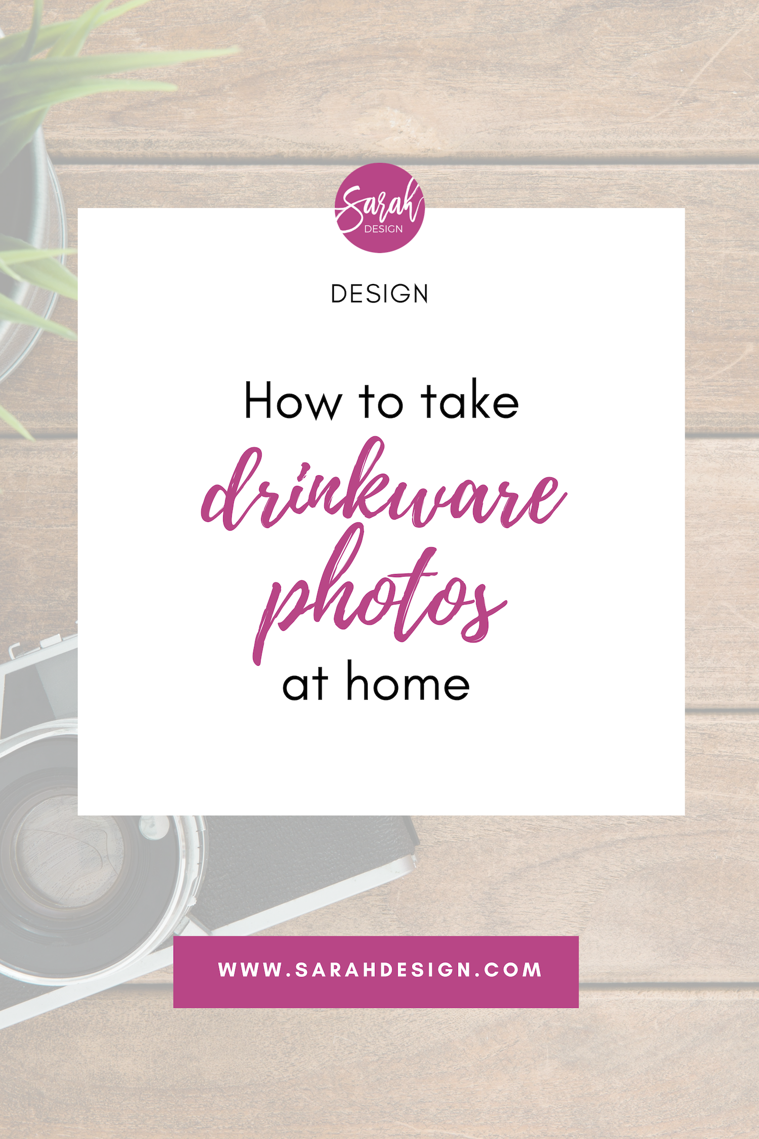 [ Video ] How to take drinkware photos at home by SarahDesign.com