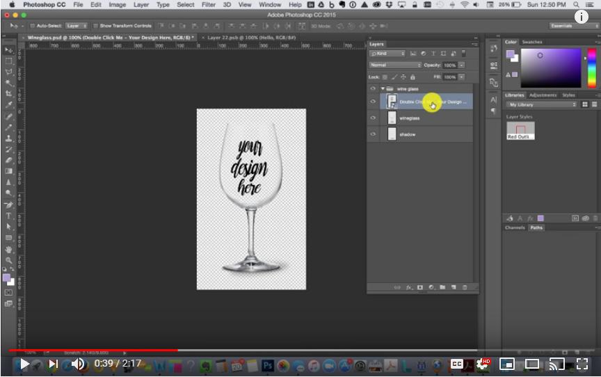 Edit the smart object.