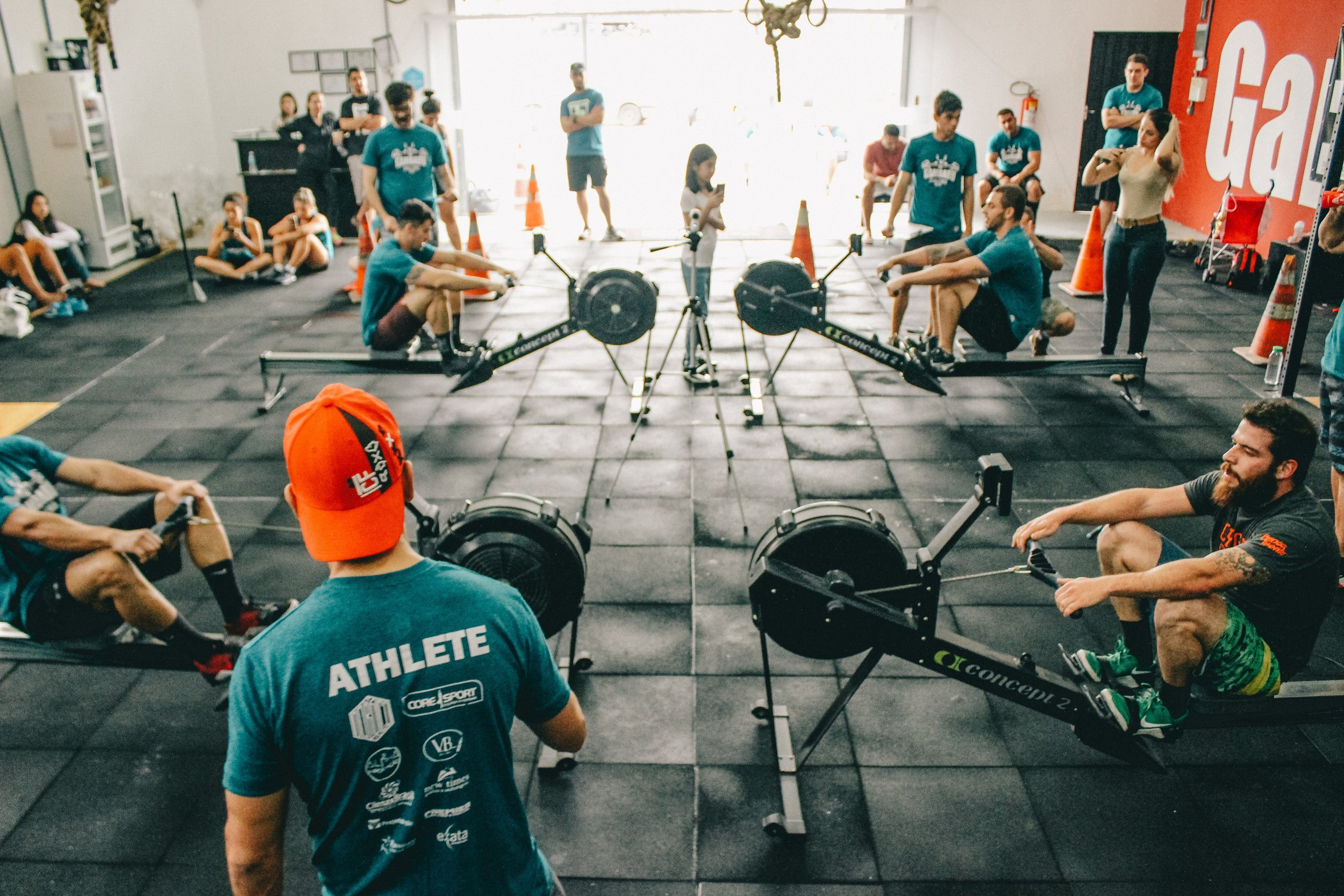 This image of several athletes training in a gym under the supervision of training staff is a good metaphor to training business skills.  Photo courtesy of  Victor Freitas  on  Unsplash