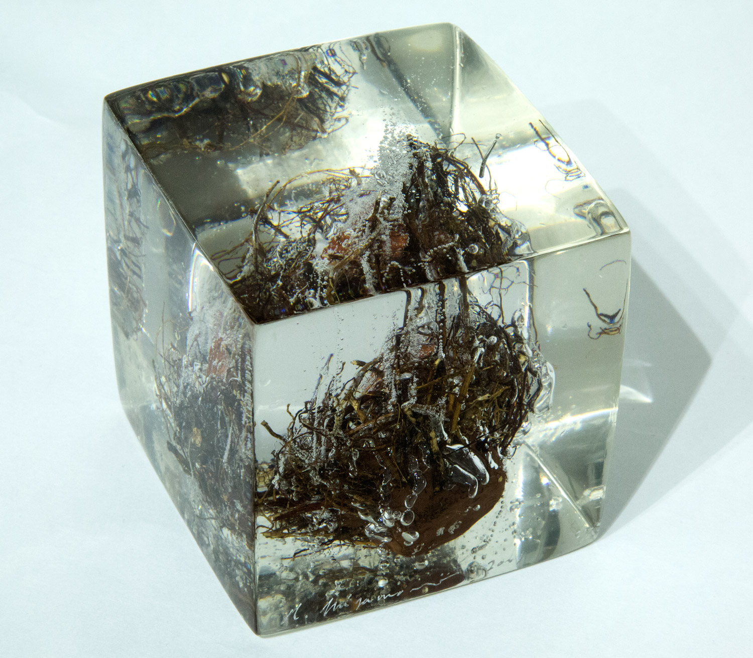 """City Root Maquette    2005  wood, clay, metal, glass, resin  3.5"""" x 3.5"""" x 3.5"""""""