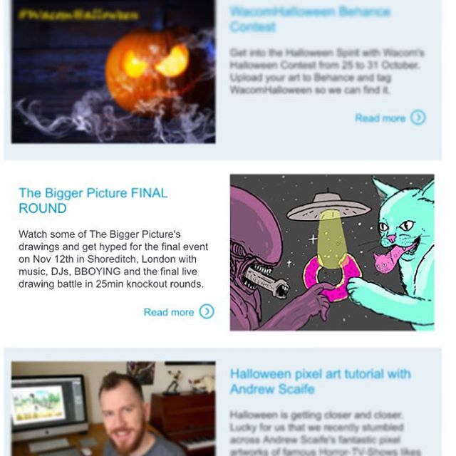 Opened up the official @wacom Europe newsletter today to find one of my drawings. Massive 💖 to @wacom I love my tablet dudes!