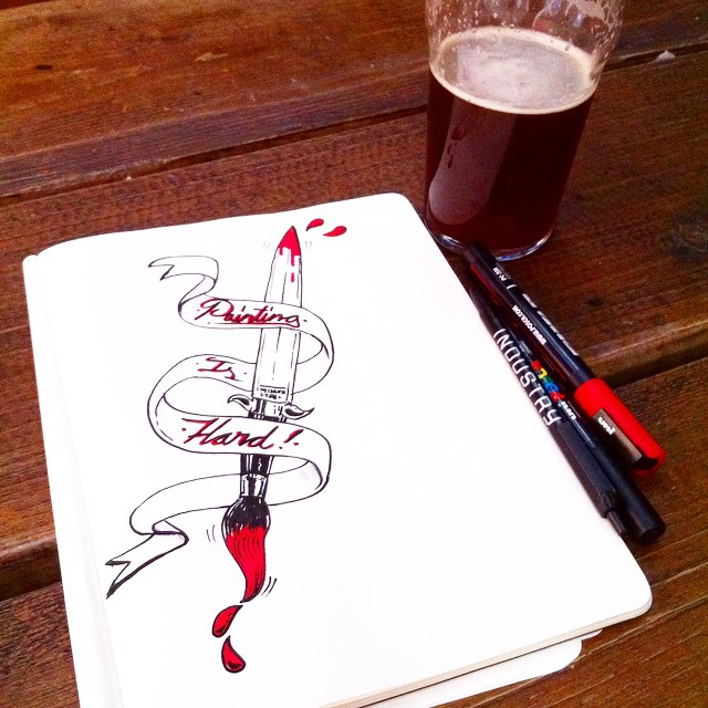 Monday nights are made for pub doodles (at The Lock Tavern)