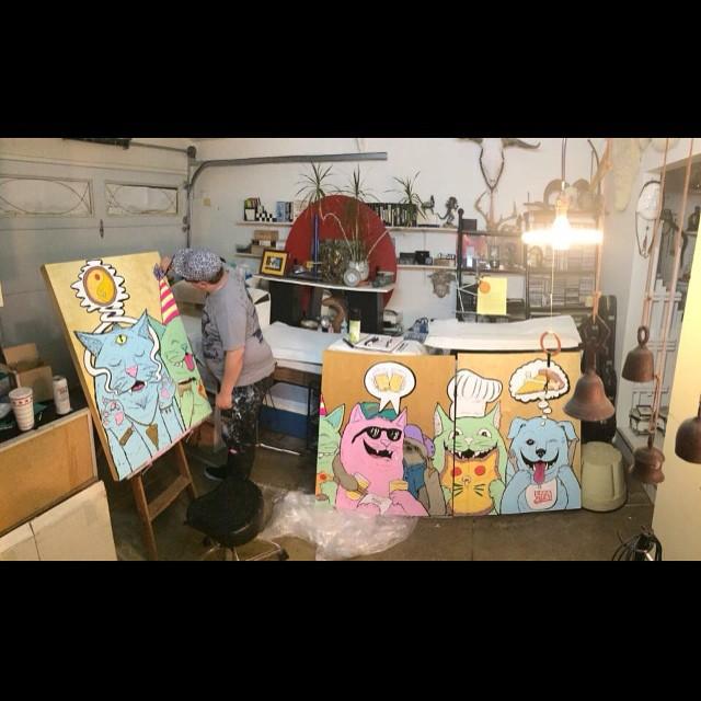 Late nite studio vibes. 📷 by @printmeggin