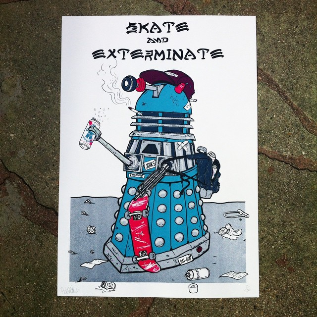 This is a thing that happened.             #fbf #tbt  #skate & #exterminate  (at the tardis)