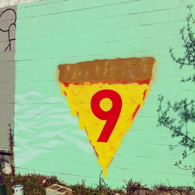 Wall stuff with @squidinkkollective #supremepizzacats #9livescrew
