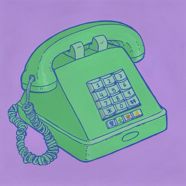 #Pizza on speed dial.