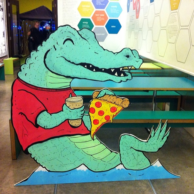 My pizza croc from the hackney wick takeover at the V&A museum! Thanks @vamuseum !  #penpushers