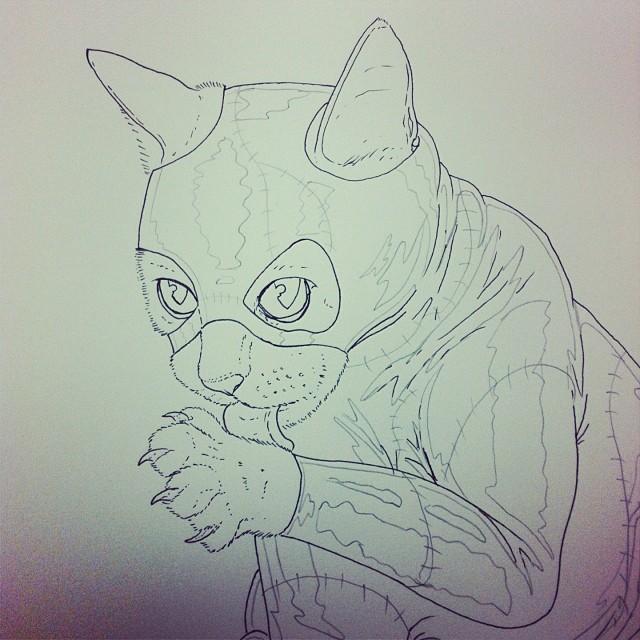 Cat woman a la batman returns.  (at Westminster Industrial Estate)