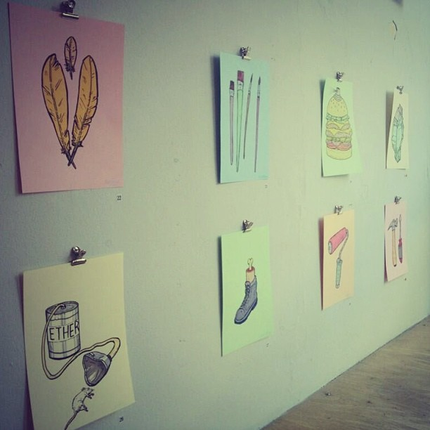 Some of my drawings from my show last week.