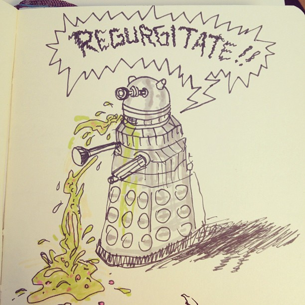 This is why I love going through old sketchbooks. #drwho #dalek #barf