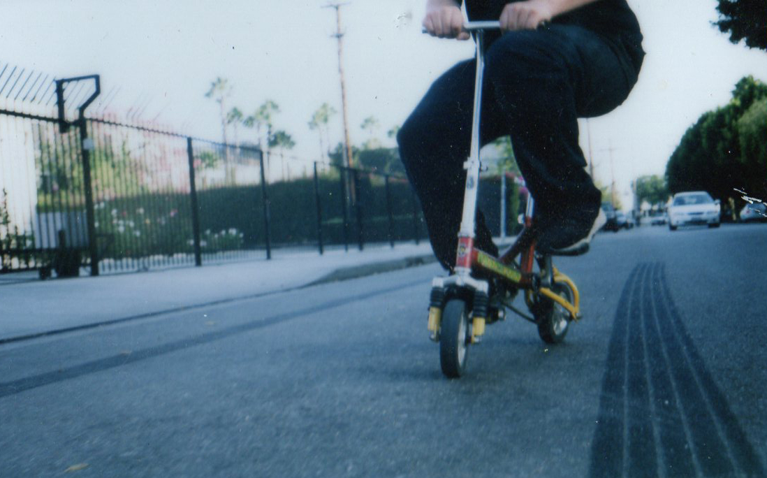 portrait of me by hauntedeuth :     The infamous Bob Motown riding dirty outside the studio.