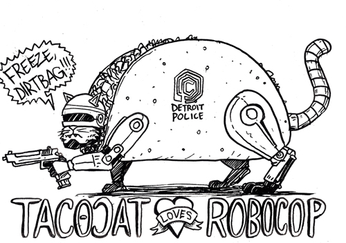 Tacocat LOVES Robocop from  The Request Line!