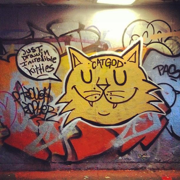 Just Drawing Incredible Kitties. #catgod #london #jdi