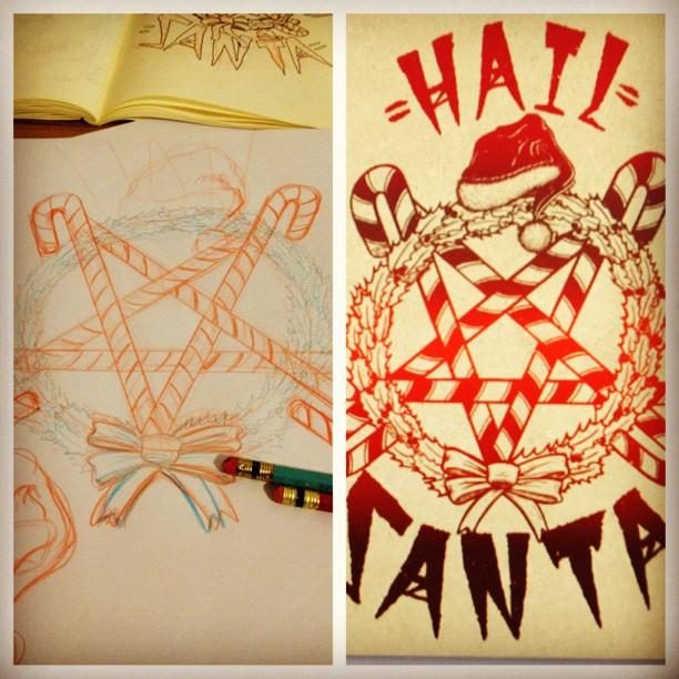 #process #darkchristmas #hailsanta (at santas pit of pain)