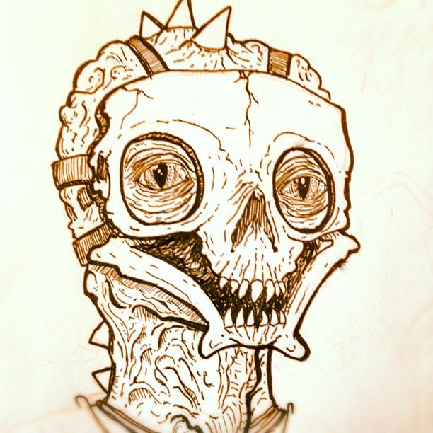 Zalidian Slaver. #drawing #pen #doodledaily #sketchparty #wip (Taken with  Instagram )