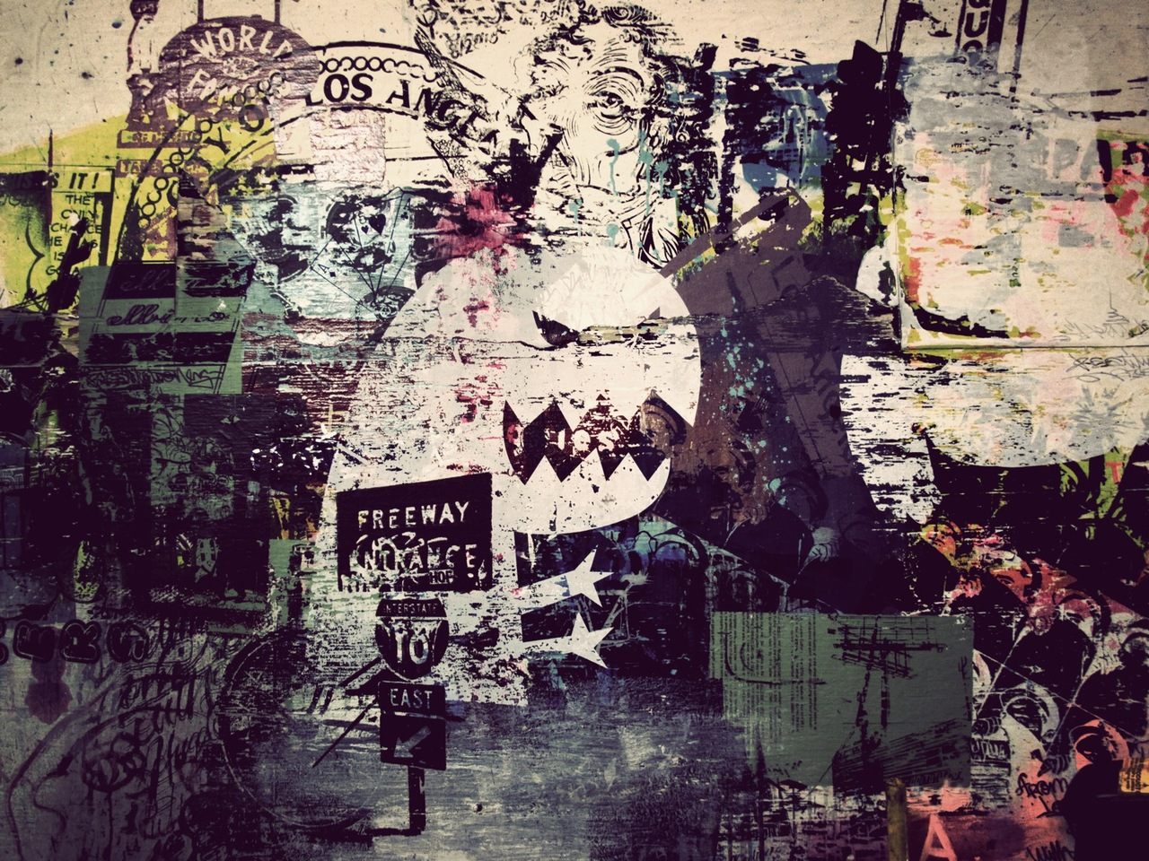 The old studio wall texture…