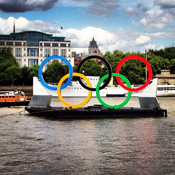 #olympics #london #2012 happening right meow! (Taken with  Instagram  at South Bank)