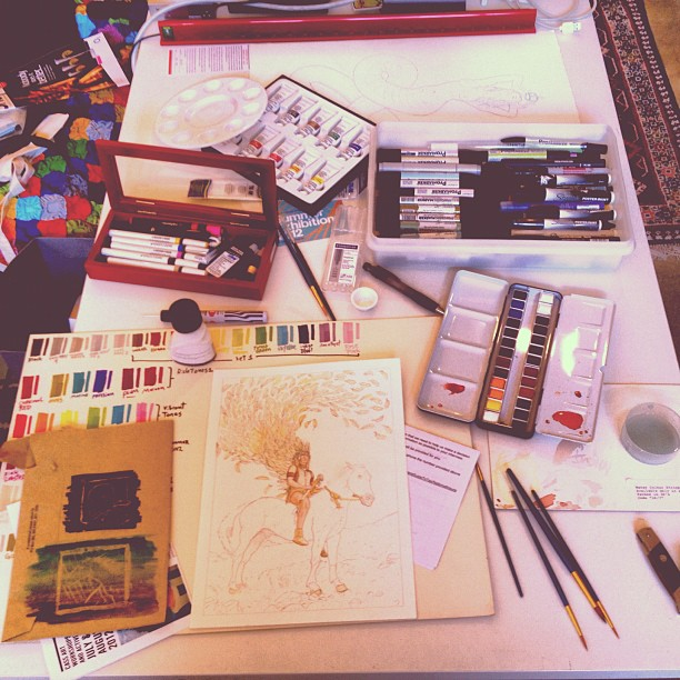 That #yung #Art mess. #samemessdifferentcountry #hashtagyourlifeaway (Taken with  Instagram  at risborough stronghold)