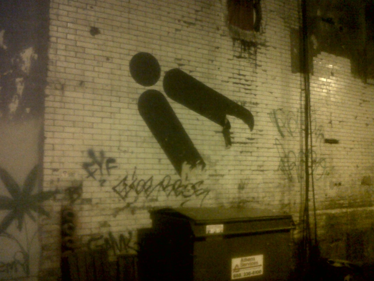 Line Line Dot is my favorite conceptual wheat paste street artisty guy thing person man friend…