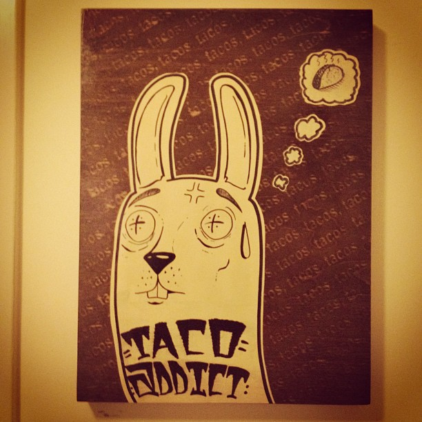 Taco addict! #projectrabbit  (Taken with  instagram )