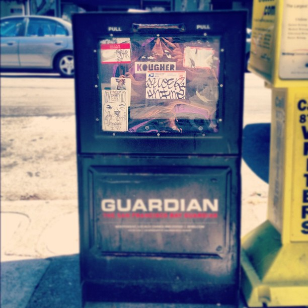 Newspaper box. #stickers (Taken with  instagram )