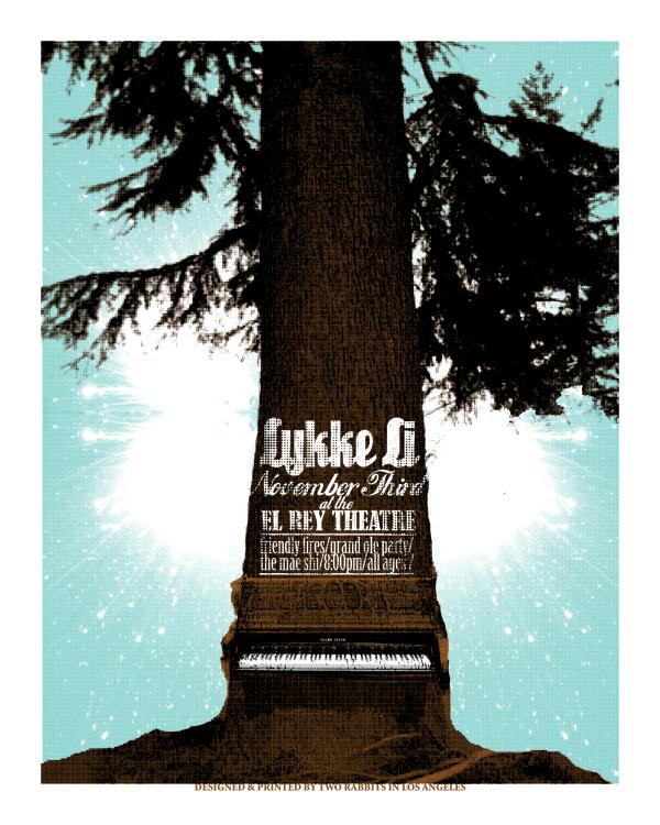 Lykke Li Poster, designed by Bob Motown. 2008