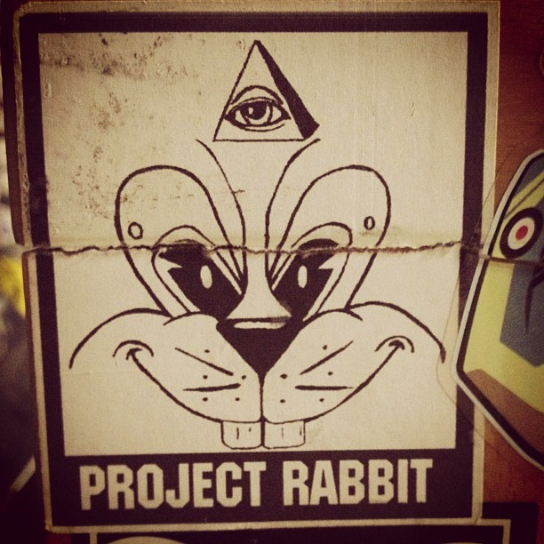This is the first #projectrabbit sticker. Circa 2003/4 (Taken with  Instagram  at Scum Dungeon)