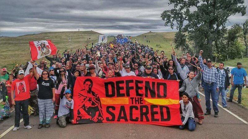 Standing Rock : Photo by Dallas Goldtooth : #WaterIsLife #NoDAPL