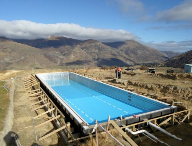 5. South Island Pool   Location:  Crown Range, South Island, New Zealand  Scope:  Two-lane residential lap pool nestled high in the mountains  Type:  Residential  Owner:  New Zealand Olympic Swimmer Mark Weldon  Completion:  2015