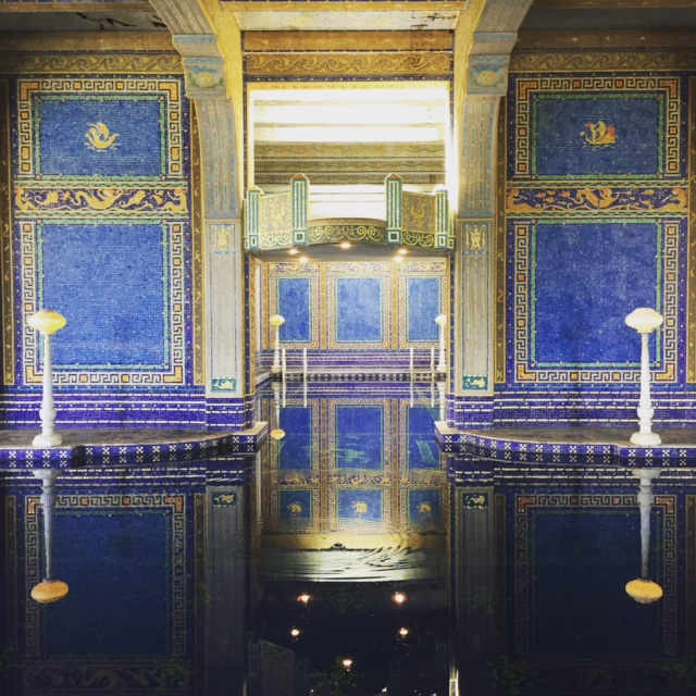 Inside pool area in Hearst Castle