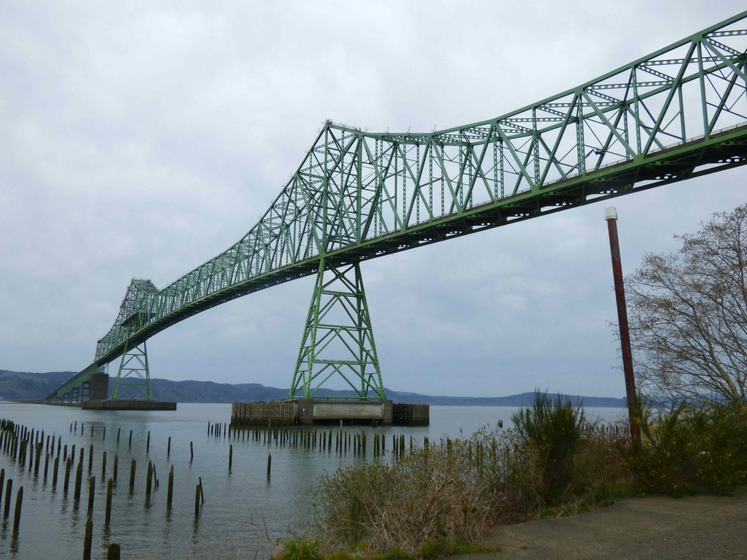 Astoria-Megler Bridge. There were so many bridges on the Columbia river.