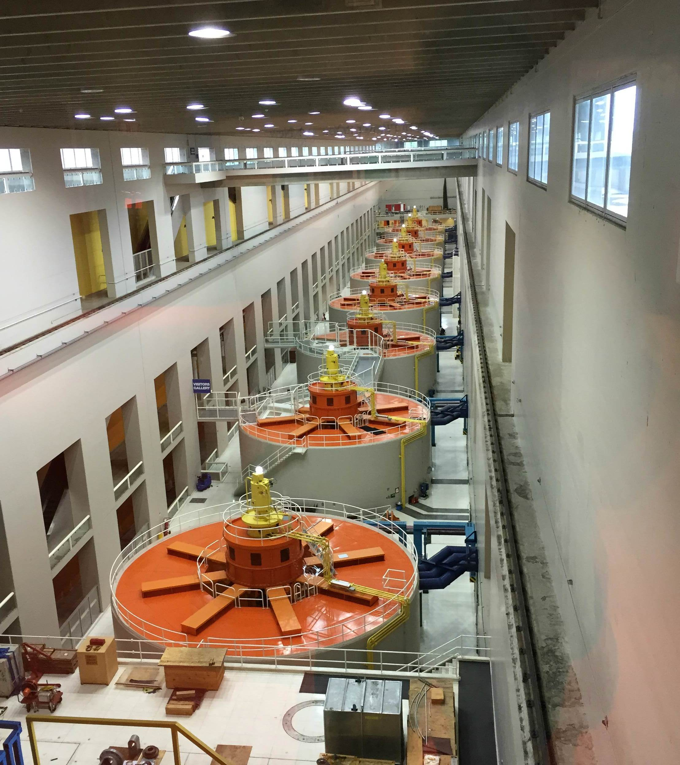 Inside the Bonneville Dam
