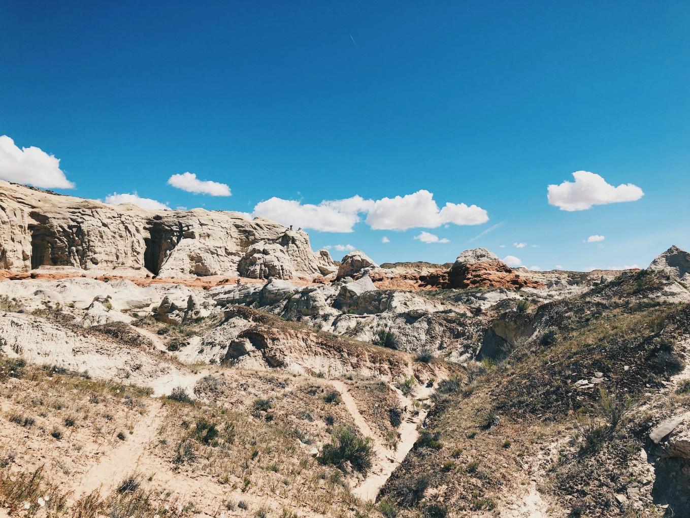 Polkuja Toadstool Trailillä Utahissa