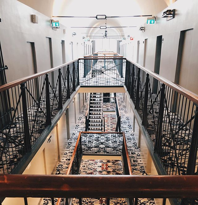 Could you believe that this place used to a county jail? It is now a beautiful boutique hotel in Helsinki where you can sleep in a room made into an old prison cell. Read about our stay at @hotelkatajanokka from my blog. ⛓~ Uskoisitko että tämä tässä on entinen vankila? Juttu Hotel Katajanokasta löytyy nyt blogista. * * * * * #kaupallinenyhteistyö #hotelkatajanokka #prisonhotel #jailhotel #helsinki #visitfinland #visithelsinki #escapetheordinary #marriott #hotel #katajanokka #travelgram #hotelgram #familytravel #travelingwithkids #perhematkalla #matkablogi #travelblog #familytravelblog #tributeportfolio