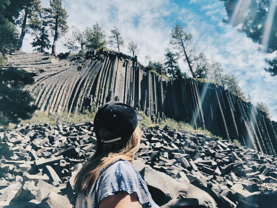 There it is. Devils Postpile National Monument.