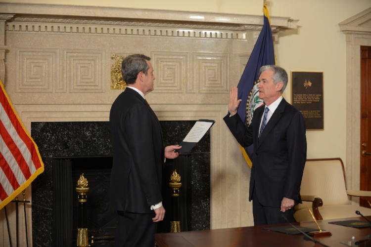 Vice Chairman for Supervision Quarles swears in Jerome H. Powell as Chairman of the Board of Governors of the Federal Reserve System