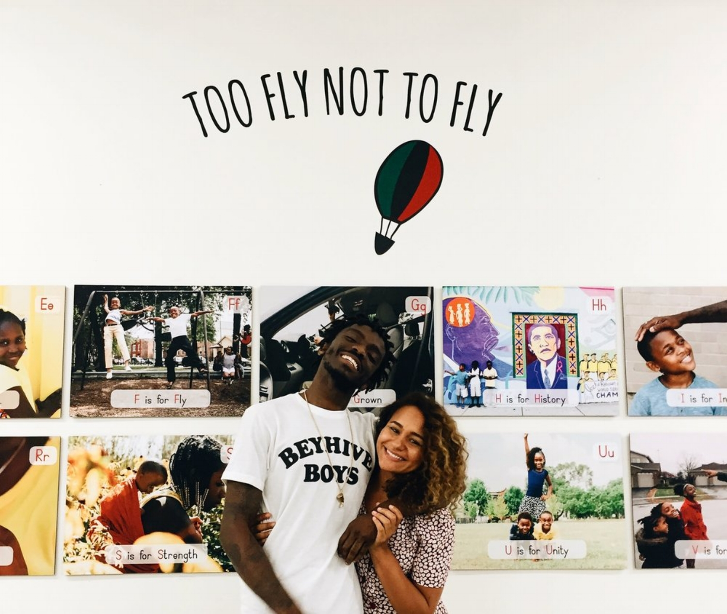 MEET THEAUTHORS. - Briana McLean and Desmond Owusu are the co-creators of Too Fly Not To Fly. Briana and Desmond met while teaching in Chicago Public Schools on the south side of the city. Their friendship and artistic collaboration began from there. Briana and Desmond believe in the importance and power of culturally relevant learning. Through the creation of Too Fly Not To Fly, Desmond and Briana seek to provide an outlet for young children to begin the deconstruction of various societal systems using the alphabet.
