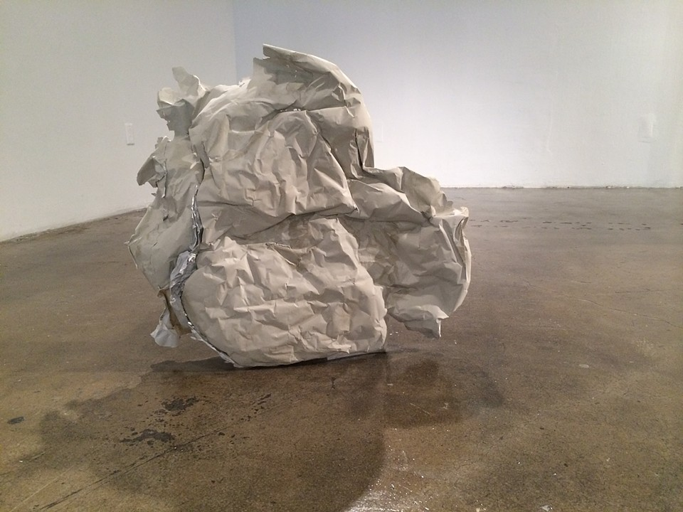 """UNTITLED"" Concrete and paper,   2013"