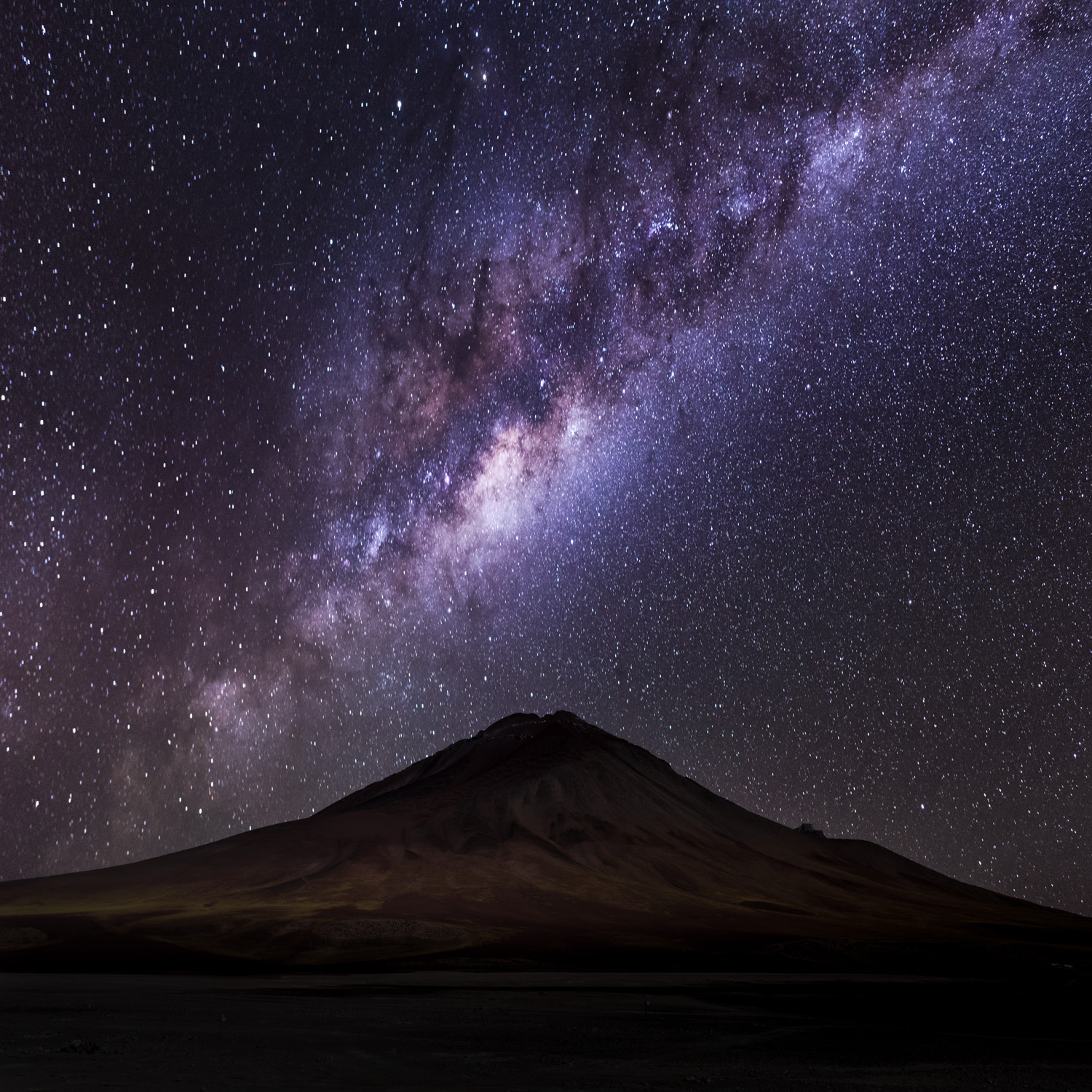 Milky Way captured on our first night on tour, with the foreground from earlier in the afternoon.